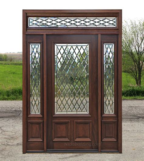 exterior door transom mahogany exterior doors with sidelights and transoms 68