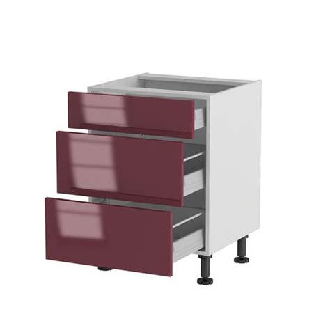 cucine basse meuble cuisine bas 60cm 1 tiroir 2 casseroliers achat
