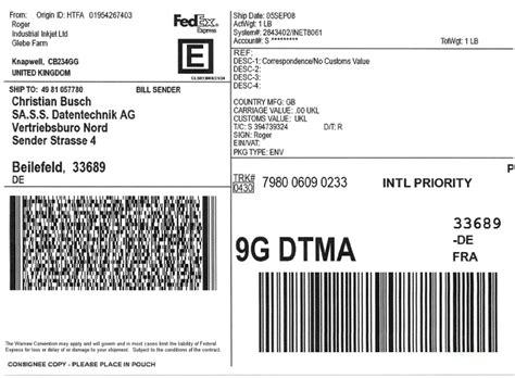 Etiketten Drucken Express by Fedex Versandaufkleber Schnell Drucken Mit Preiswerten