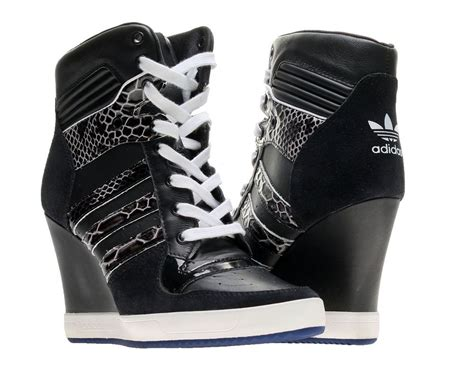 Sneakers Wedges Black White adidas originals rivalry wedge black white womens shoes