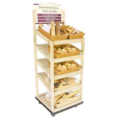 Frozen Bread Shelf by Bread Display Rack 5 Shelf Light Wood Air Designs