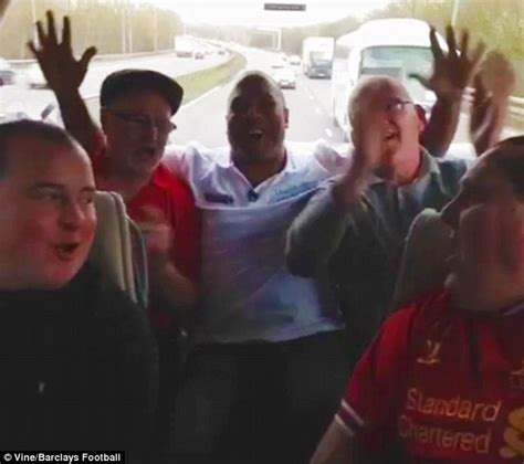 barnes football song barnes joins liverpool fans on coach to southton