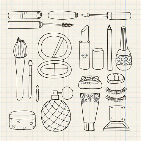 doodle how to make doodle make up tools stock vector 169 marylia 66300033