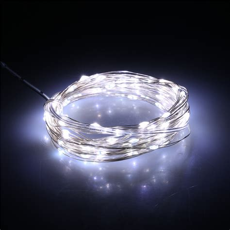 Battery Operated Rope Lights Outdoor 10m 100leds String Light Indoor Outdoor Decor Battery Operated Remote Ebay