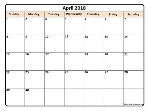 Lounge72 Pdf Calendars by April 2018 Printable Calendar Printable Calendars