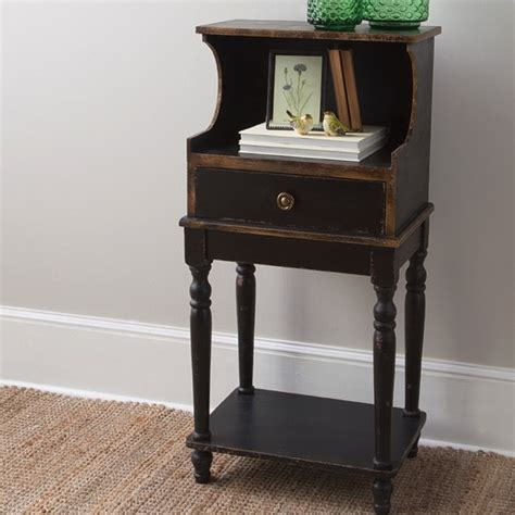 Telephone Table With Drawer by Distressed Telephone Table With Drawer Antique Farmhouse