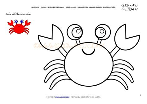 Example Coloring Page Crab Color Picture Of Crab
