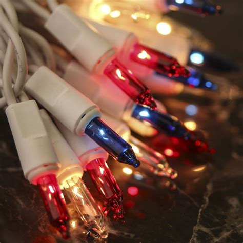 red white blue lights red white and blue and white cord string lights