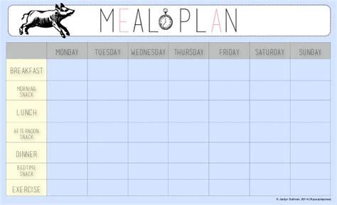 Free Meal Plan Calendar Printable meal plan template