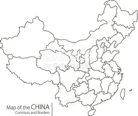 china map vector contour china map stock vector 590598280 istock