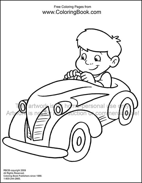 cars coloring book coloring pages free coloring pages kid in car