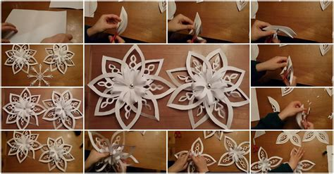 by steps how to make a 3d snowflake how to make 3d snowflakes tutorial usefuldiy com
