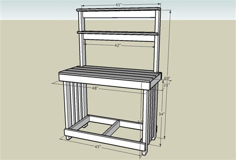 potters bench plans potting bench