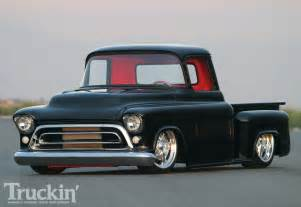 1957 chevy stepside left front angle photo 2