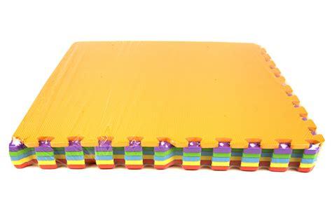 Rainbow Mat by Rainbow Play Mats Colorful Interlocking Foam Tile Pack