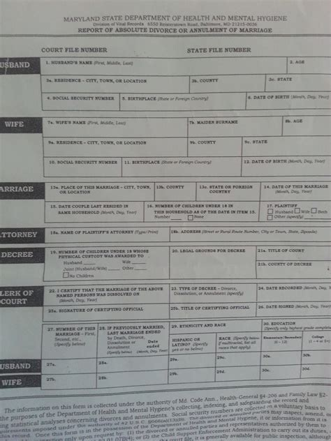 Divorce Records Maryland Maryland Divorce Forms Absolute Divorce Archives The Divorce Place For Maryland