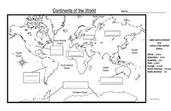 maps   continents   world  students  label