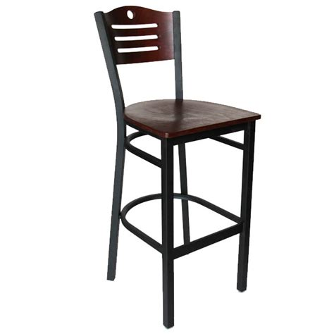 metal frame bar stools black metal frame bar stool with mahogany wood back and seat