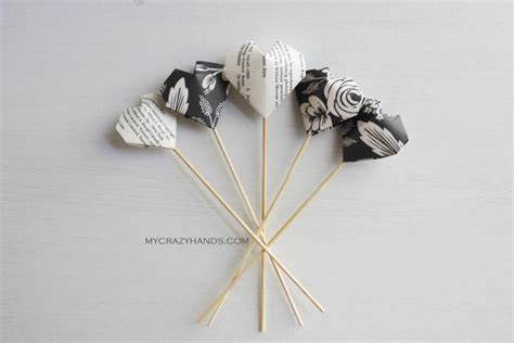 Origami Wedding Decorations - 6 origami wedding cake toppers anniversary picks
