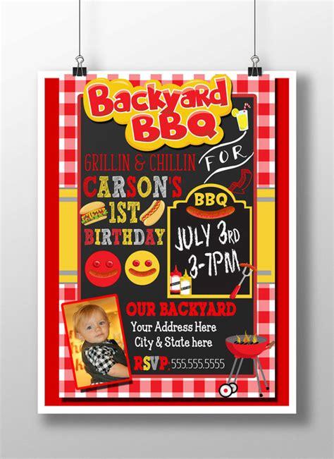 bbq birthday invitation bbq 1st birthday backyard bbq