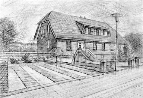 bleistiftzeichnung haus architekturmaler architekturmalerei architektur gem 228 lde