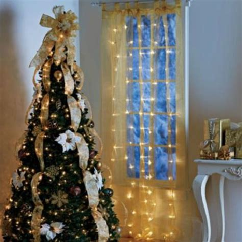 lighted christmas curtain panels gold or white christmas lights lighted curtain panel
