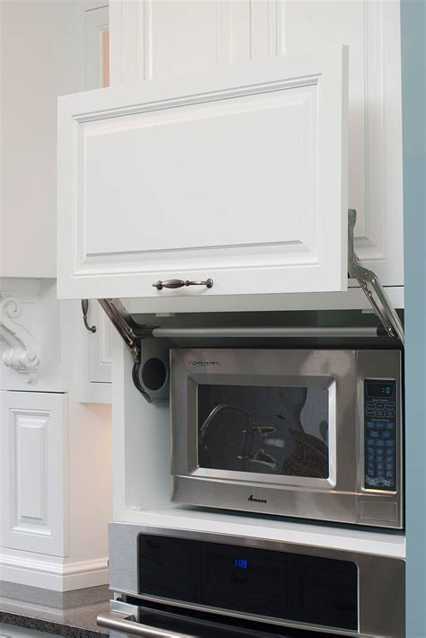kitchen cabinets with microwave shelf microwave hideaway cabinet for the home pinterest
