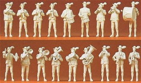 Preiser 16353 Bavarian Band working bavarian band model railroad figures ho