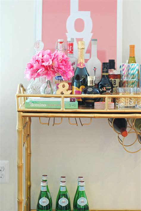 how to decorate a bar why every girl needs a bar cart eat yourself skinny