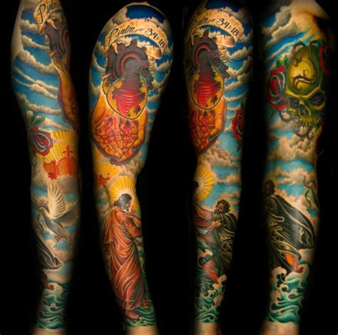 best religious sleeve tattoos amazing 80 best images about tats interesting on half
