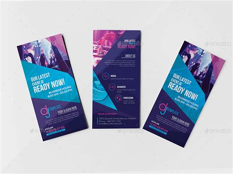 graphicriver gift card template dj rack card and business card template by wutip2