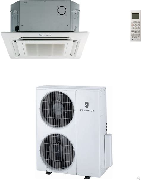 single zone ductless heating and friedrich c24yj 24000 btu single zone ceiling cassette ductless split system with 27000 btu heat