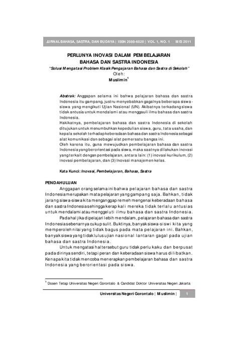Jurnal Sastra Dalam Bahasa Indonesia Pdf | Link Guru