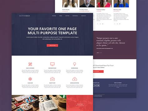free html template activebox free html template freebiesbug