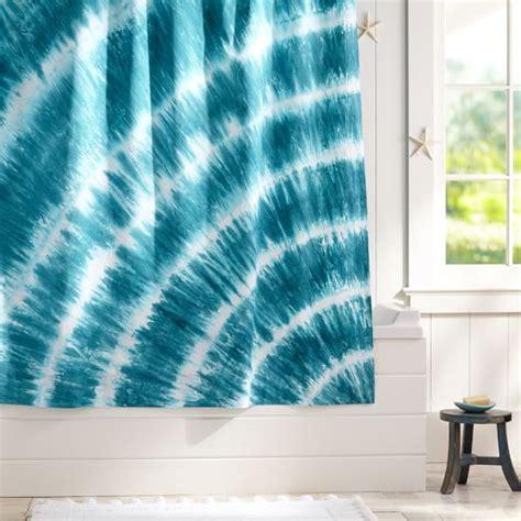 curtain pool tatum tie dye shower curtain pool pbteen
