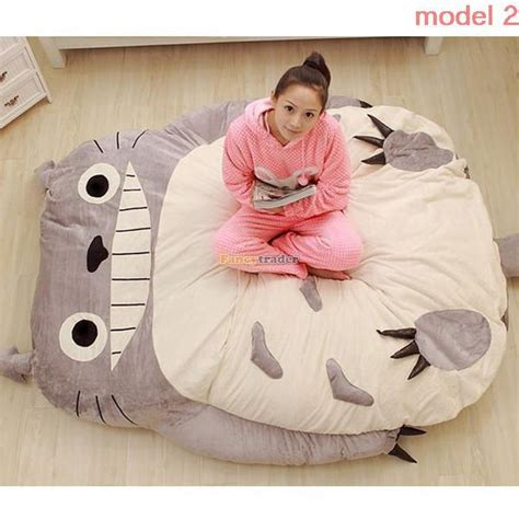 giant totoro bed fancytrader 230cm x 180cm giant biggest plush totoro bed