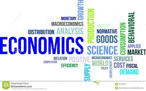 related words word cloud economics stock photo image 36139220