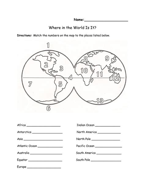 printable label the continents worksheet label continents oceans worksheet continents and oceans