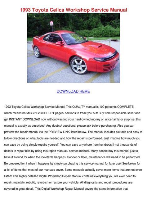 manual repair free 1993 toyota celica head up display 1993 toyota celica workshop service manual by shawneerobinette issuu