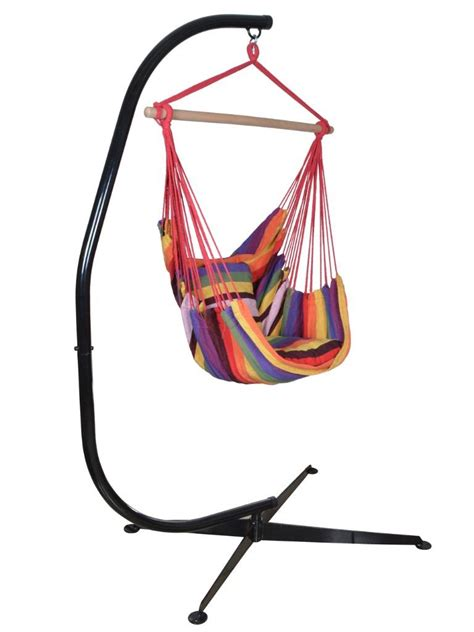 Rope Hammock Chair Stand Hammock C Stand Solid Steel Hanging Rope Chair Air Outdoor