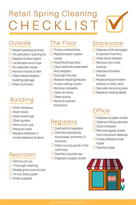 store cleaning checklist template ultimate retail spring cleaning checklist omega products blog