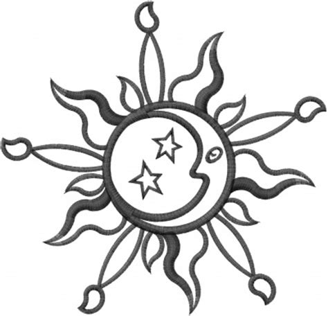 embroidery design outline sun moon outline embroidery design annthegran