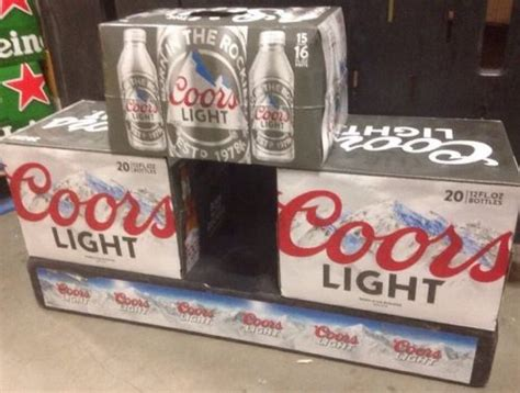 Coors Light Prices by Coors Light Plastic Mini Stackbase Store Floor Display
