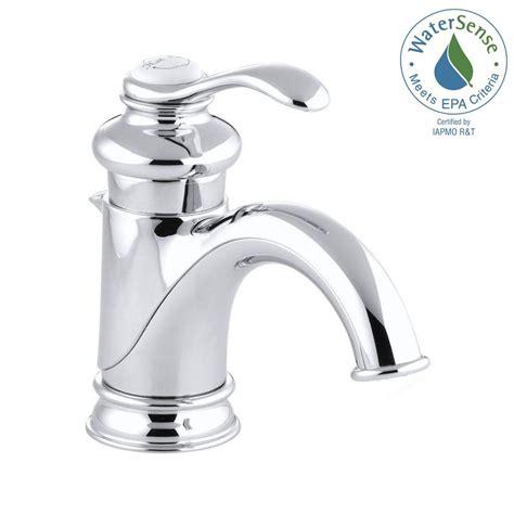 kohler bathroom sink faucets kohler fairfax single single handle low arc bathroom