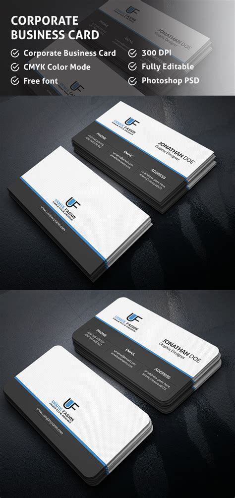 300 Dpi Business Card Template by New Corporate Business Card
