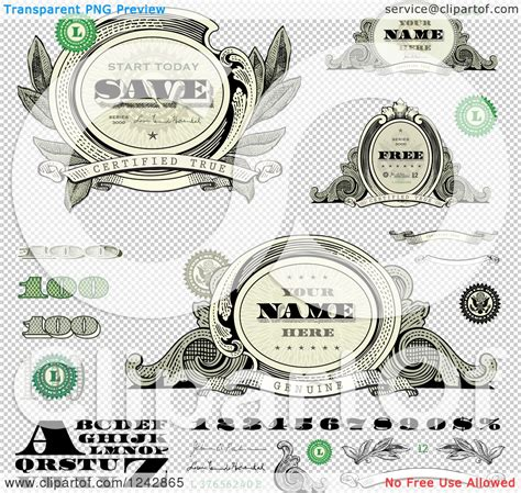 11 us currency font vector images dollar bill vector art