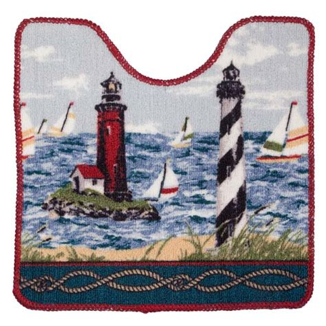lighthouse bathroom rugs lighthouse bath mat nautical bath rugs walter drake