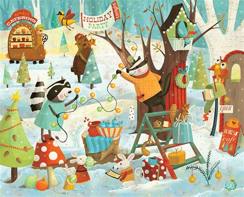 merry christmas forest behance
