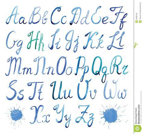 design font uppercase english watercolor decorative alphabet with hand cartoon