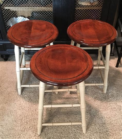 nichols and stone bar stools set of three nichols and stone co faux bamboo stools local